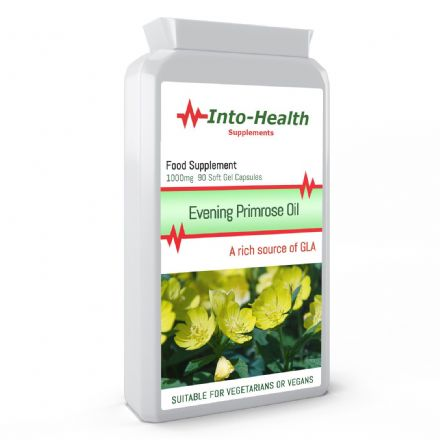 Evening Primrose Oil 1000mg x 90 Caps (Cold Pressed); Source Of GLA; Into-Health